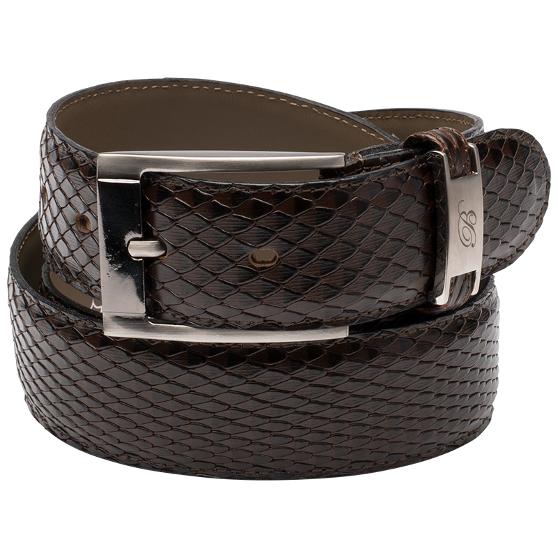 Brentwood - MENS SNAKE PRINTED BELT